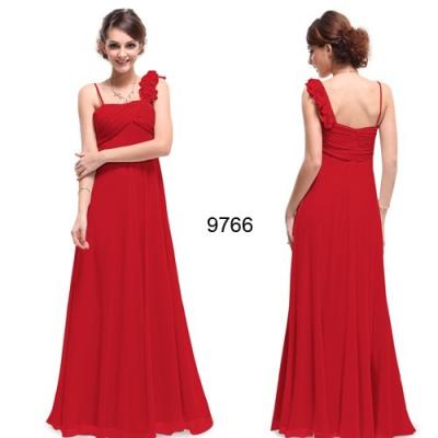 Červené dlouhé společenské šaty