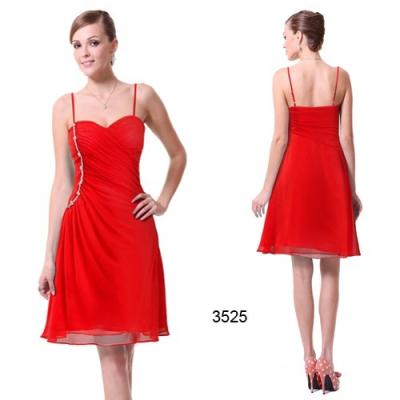 Koktejlové červené šaty
