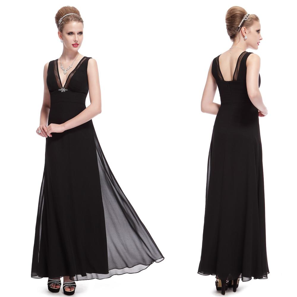 e30b13eab77 Ever-Pretty Černé dlouhé večerní šaty