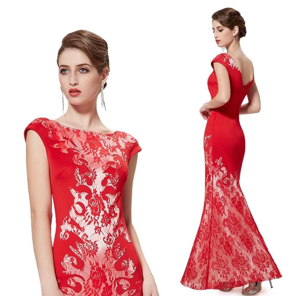 Dlouhé červené siluetové šaty