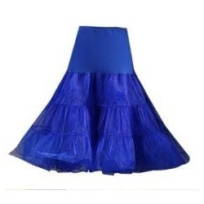 Kratší tmavě modrá třívrstvá spodnička