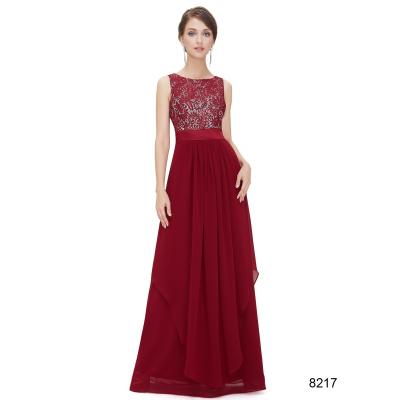 Dlouhé červené šaty s krajkovým živůtkem 267f06b4646