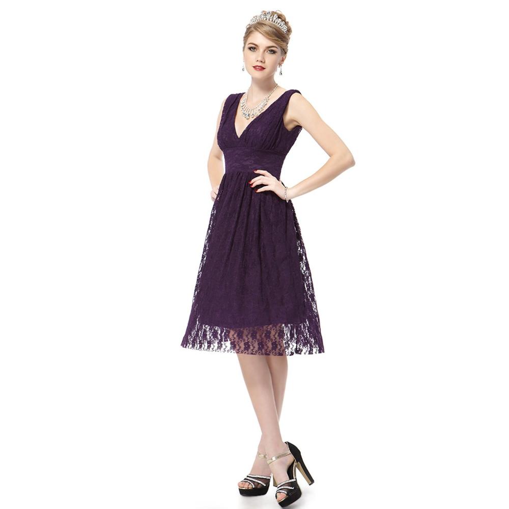 Ever-Pretty Fialové krajkové koktejlové šaty 2f786fd31d5