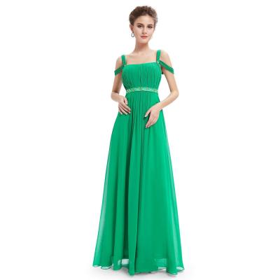 Zelené dlouhé šaty s ramínky