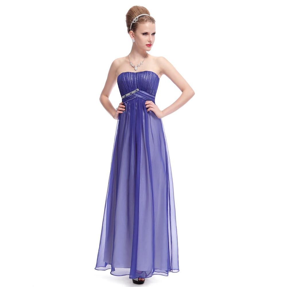 Modré dlouhé společenské šaty