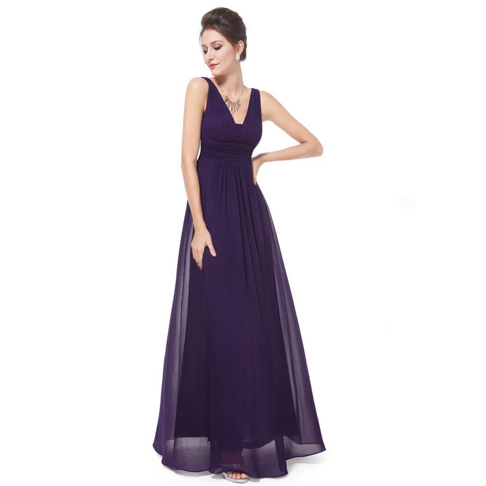 Tmavě fialové dlouhé společenské šaty