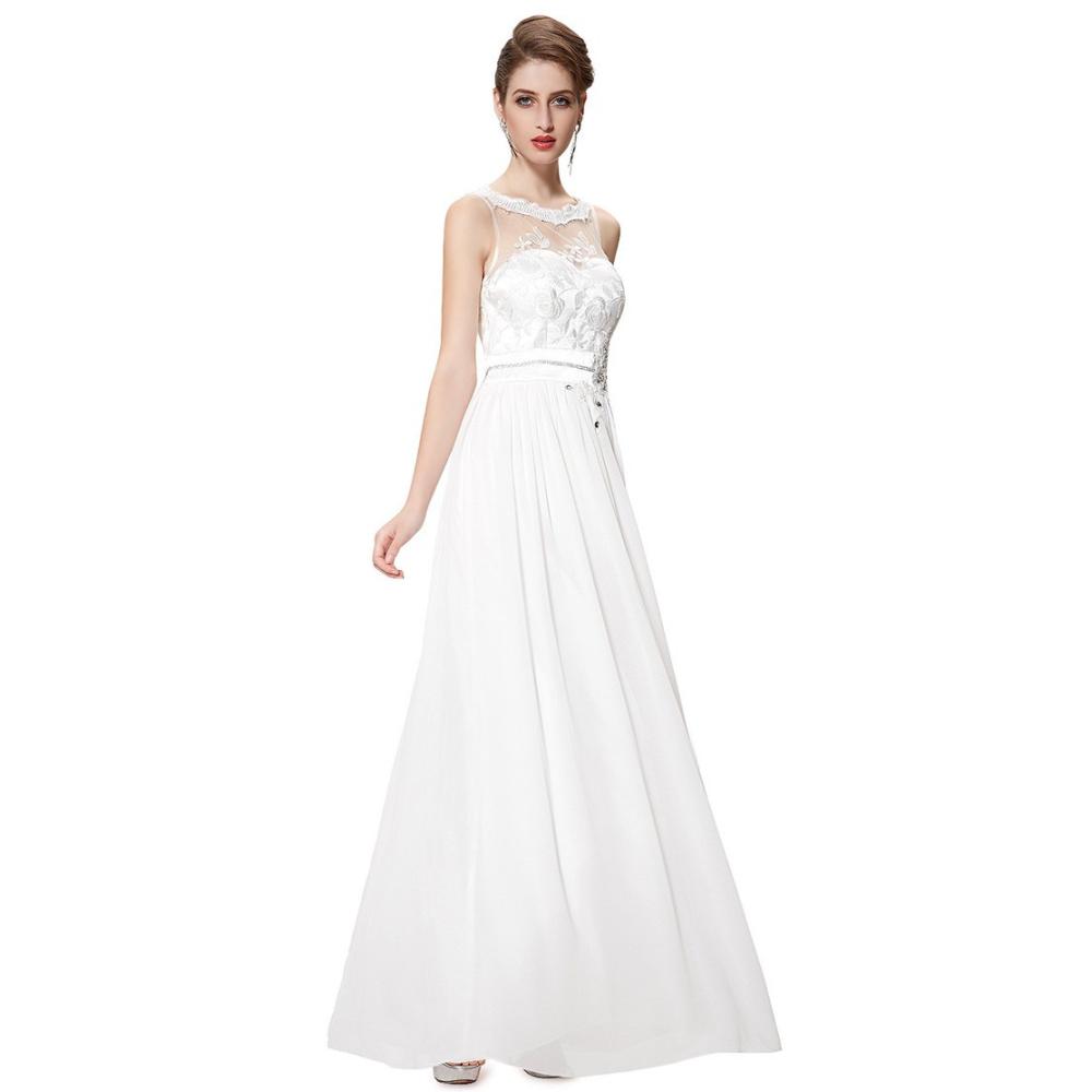 Dlouhé bílé šaty s krajkou