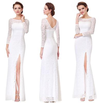 Bílé krajkové šaty s rukávy
