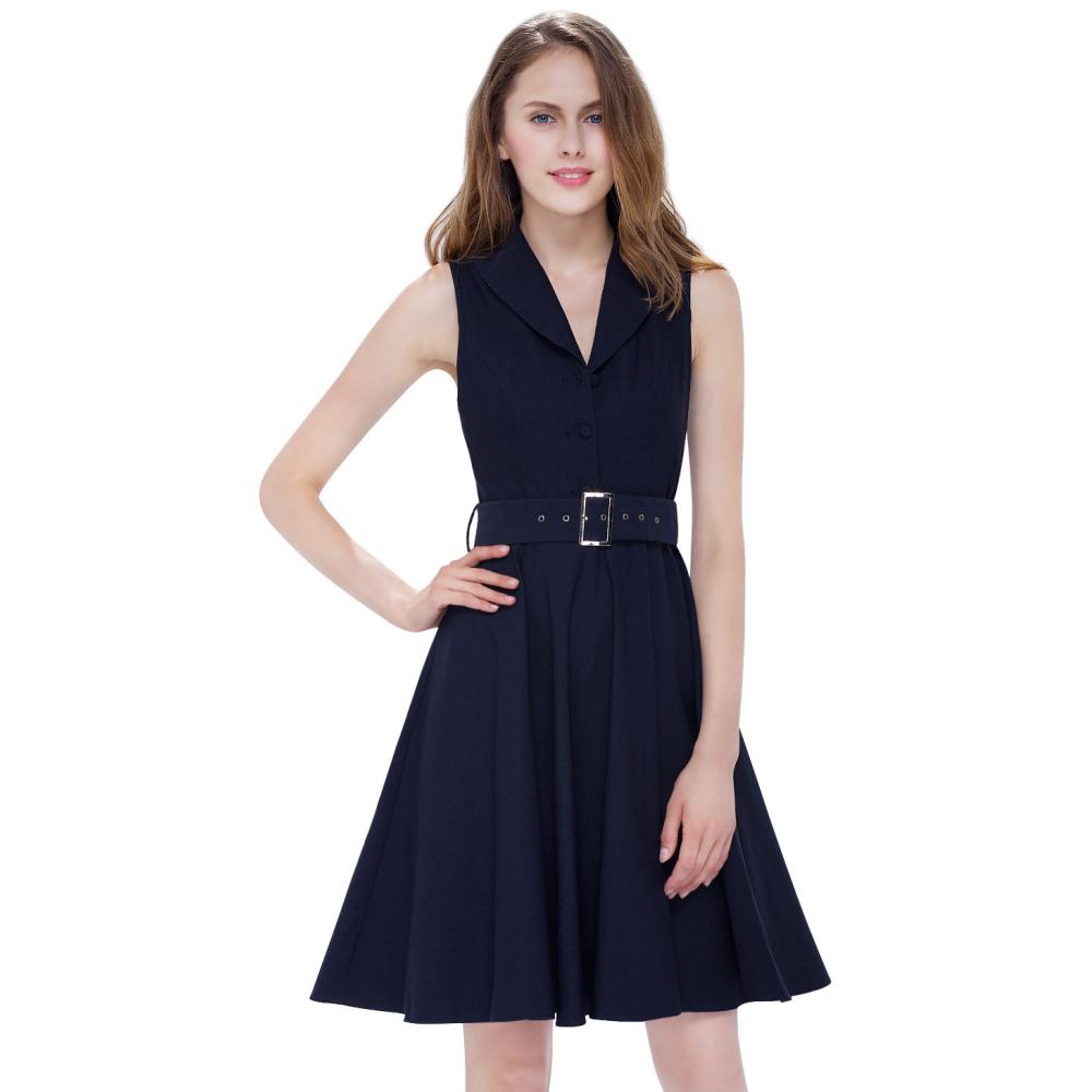 Tmavě modré koktejlové šaty