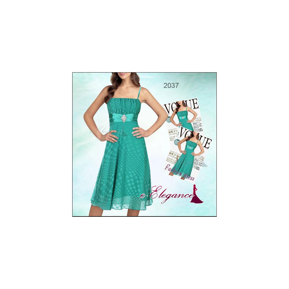 Modro zelené koktejlové šaty